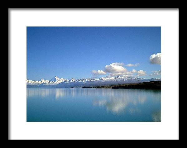 Lake Framed Print featuring the photograph Lake Terapo by Joyce Woodhouse