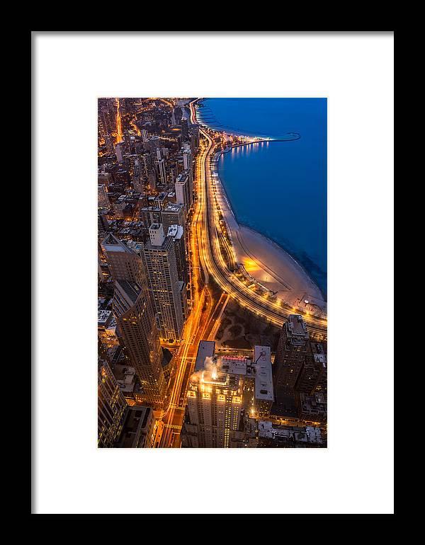 Beach Framed Print featuring the photograph Lakeshore Drive Aloft by Steve Gadomski