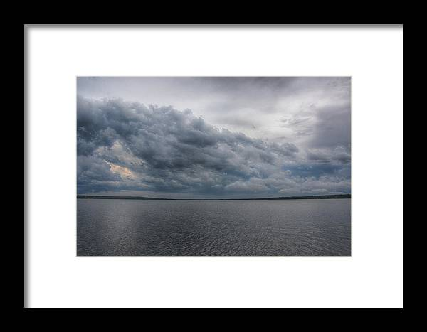 Landscape Framed Print featuring the photograph Lakeside Storm by Heather Reichel