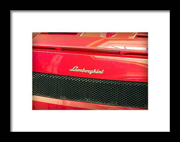 Lamborghini Back View Framed Print By Valentino Visentini