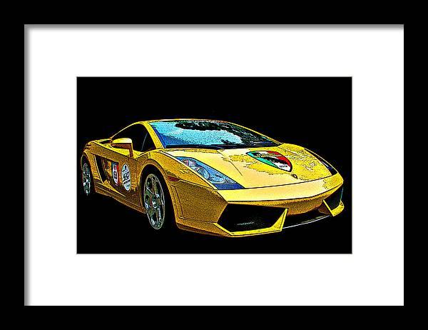 Lamborghini Gallardo 3 4 Front View Framed Print