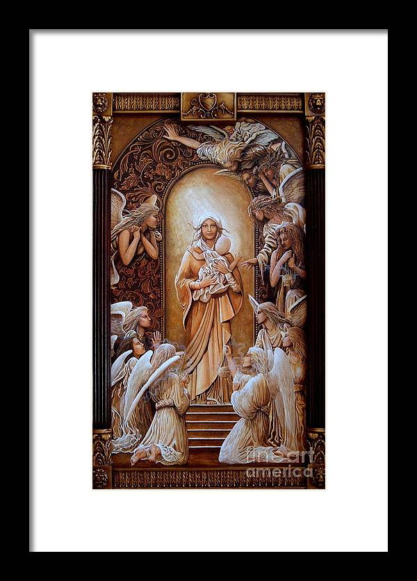 Pamela Roehm Framed Print featuring the painting L'amore De Dieu by Pamela Roehm