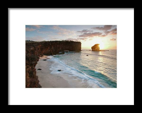 Scenics Framed Print featuring the photograph Lanai Sunset Resort Beach by M Swiet Productions