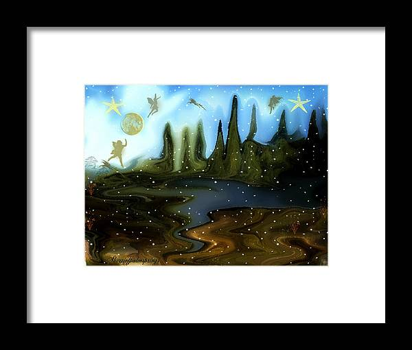 Fairies Framed Print featuring the painting Land Of The Fairies For Kids by Sherri's - Of Palm Springs