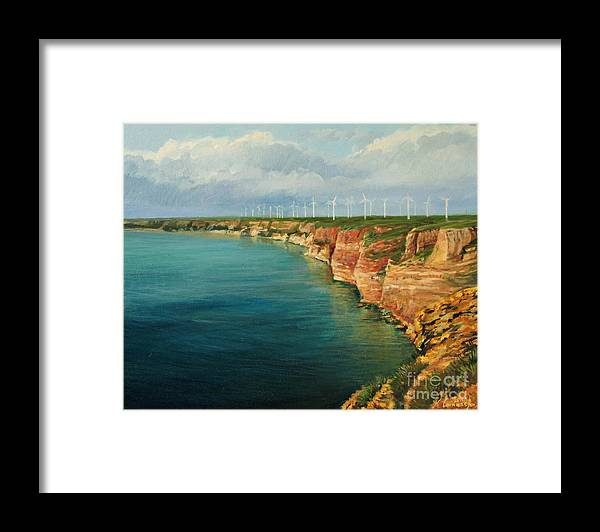 Art Framed Print featuring the painting Land of The Winds by Kiril Stanchev