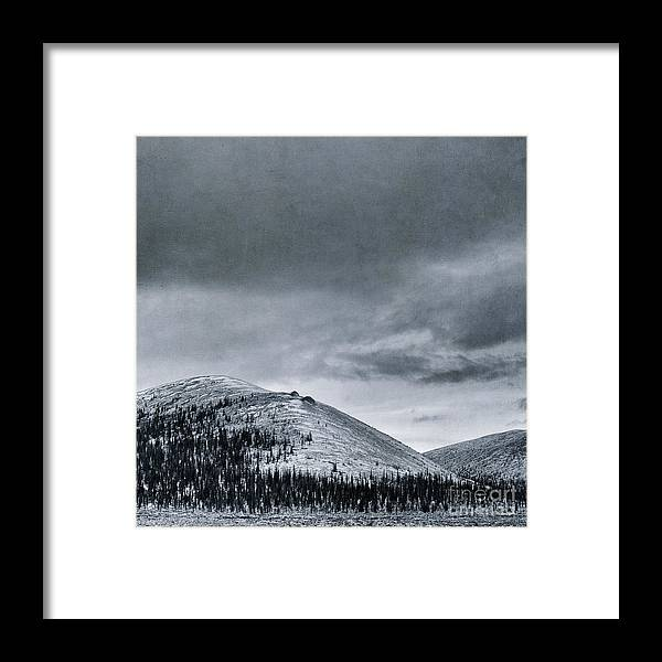 Mountain Framed Print featuring the photograph Land Shapes 10 by Priska Wettstein