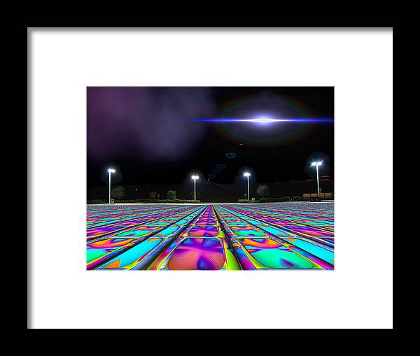 Ufo Framed Print featuring the digital art Landing Pad 5 A M by Wendy J St Christopher