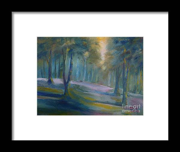 Landscape Framed Print featuring the painting Lands End 03   by Pusita Gibbs