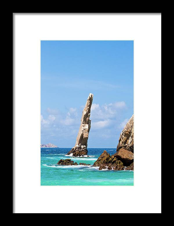 Scenics Framed Print featuring the photograph Lands End Rock by Christopher Kimmel