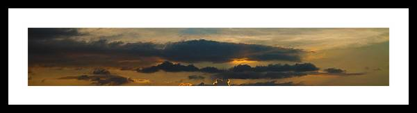 Sky Framed Print featuring the photograph Landscape 2 Of 3 by Agustin Uzarraga