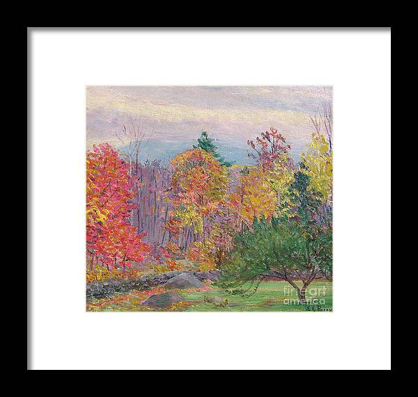 Tree Framed Print featuring the painting Landscape At Hancock In New Hampshire by Lilla Cabot Perry