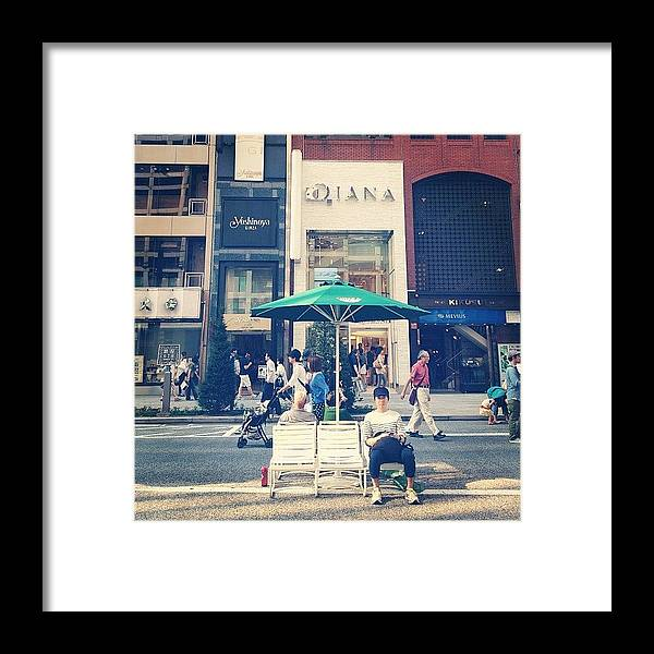 Landscape Framed Print featuring the photograph #landscape Ginza Saturday Afternoon by Tokyo Sanpopo