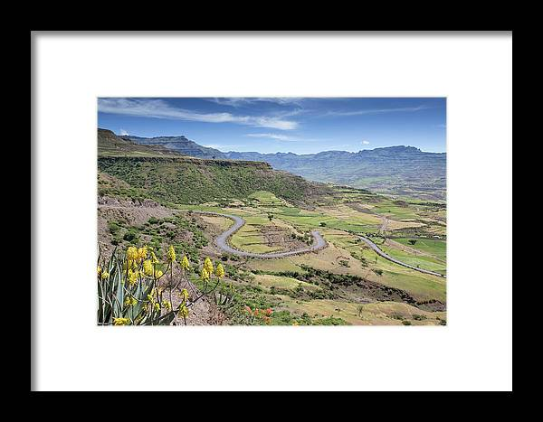 Africa Framed Print featuring the photograph Landscape Near Lalibela by Peter J. Raymond