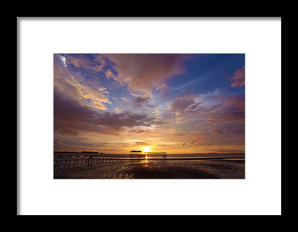 Sipitang Jetty Framed Print featuring the photograph Landscapes by Lawrence Chung