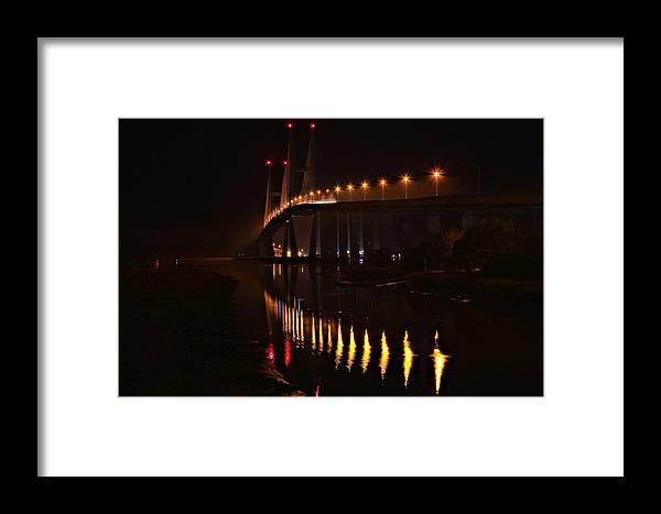 Bridge Framed Print featuring the photograph Lanier's East Side by Durward Henderson