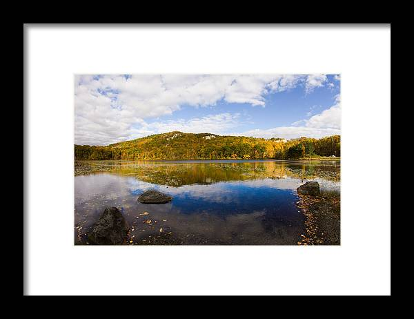 Lantern Hill Pond Framed Print featuring the photograph Lantern Hill Pond - North Stonington CT by Kirkodd Photography Of New England