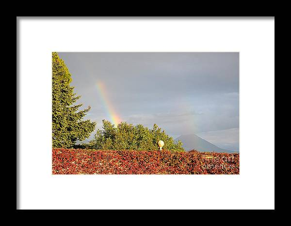 Arcobaleno Framed Print featuring the photograph L'arcobaleno by Adriana Otetea