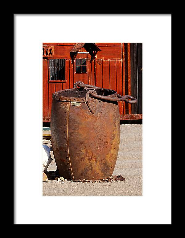 Mining Bucket Framed Print featuring the photograph Large Mining Bucket by Phyllis Denton