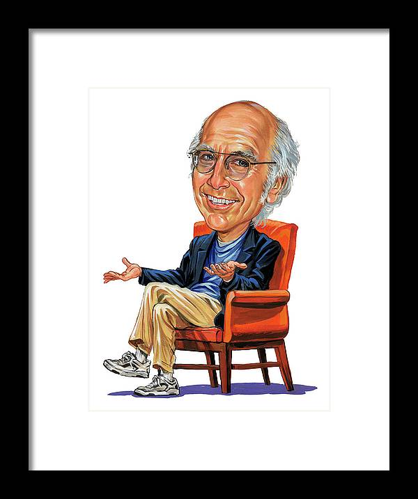 Larry David Framed Print featuring the painting Larry David by Art