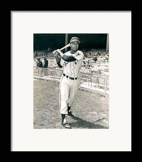 classic Framed Print featuring the photograph Larry Doby by Retro Images Archive