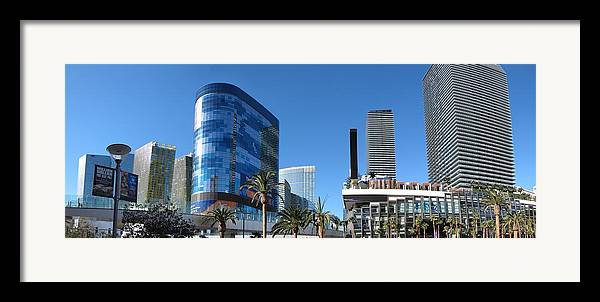 Las Framed Print featuring the photograph Las Vegas - Cosmopolitan Casino - 12121 by DC Photographer