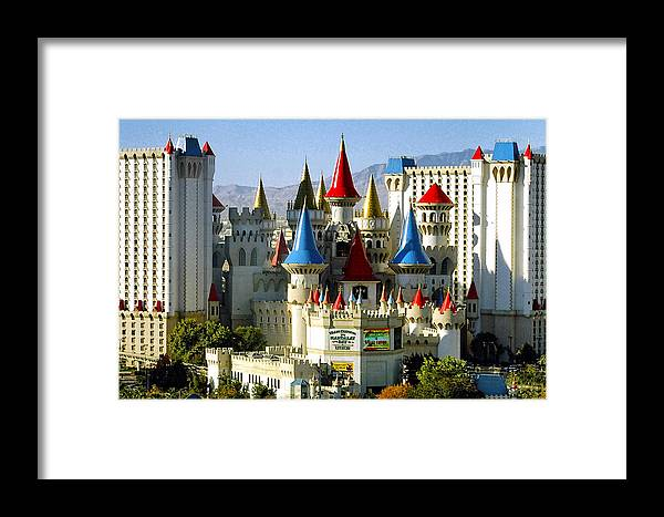 Las Vegas Framed Print featuring the photograph Las Vegas - Excalibur Hotel by Jon Berghoff