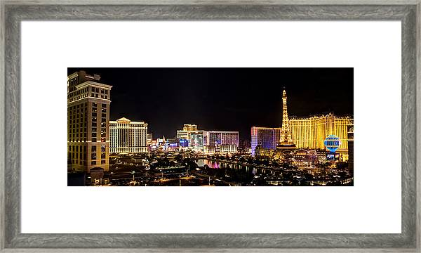 Las Vegas City USA America Cityscape Night Scene Canvas Pictures Wall Art Prints