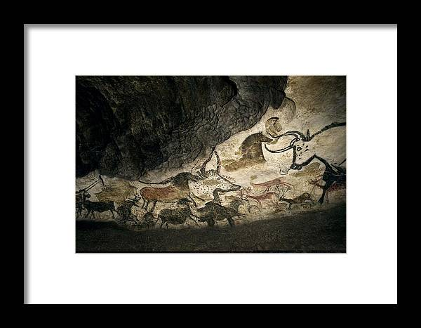 Cave Painting Framed Print featuring the photograph Lascaux II Cave Painting Replica by Science Photo Library