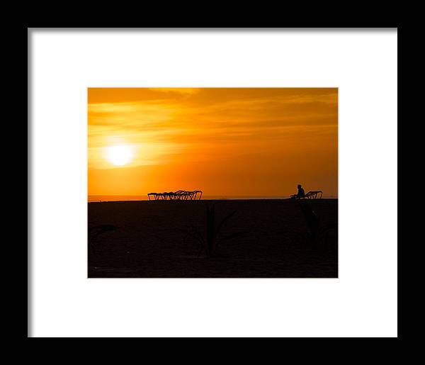 Beach Framed Print featuring the photograph Last Call Nicaragua by Jay Campbell