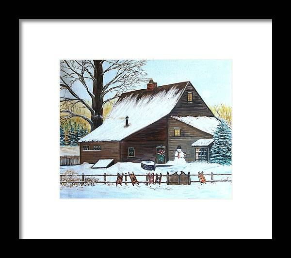 Landscape Framed Print featuring the painting Last of Winter by Kenneth LePoidevin