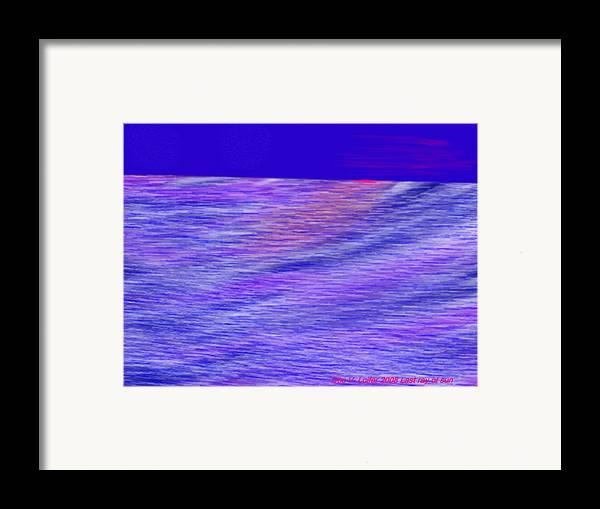 Sky.stars.sea.reflection.waves.evening.rest.silence. Framed Print featuring the digital art Last Ray Of Sun by Dr Loifer Vladimir