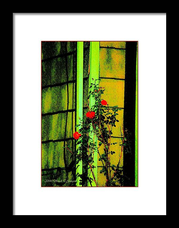 Vintage Beauty Framed Print featuring the digital art Last Roses Of The Season by Sonali Gangane