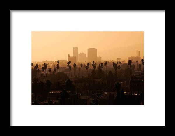 Travel Framed Print featuring the photograph Late Afternoon Over Hollywood by Whitman White