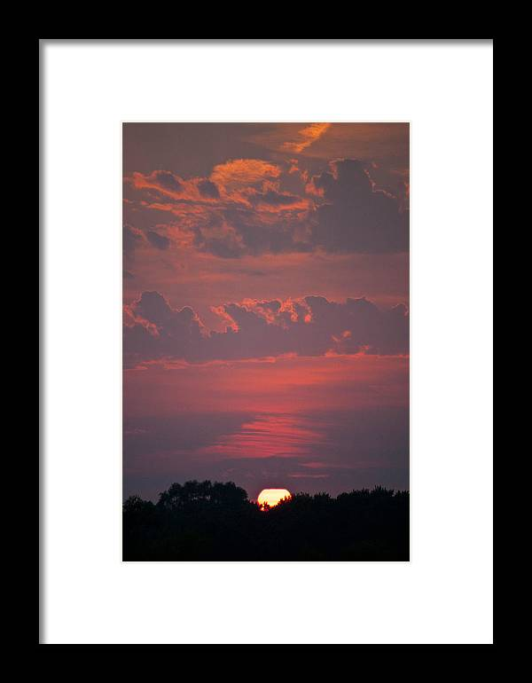 Sunset Framed Print featuring the photograph Late Summer Sunset by Deana Wagner
