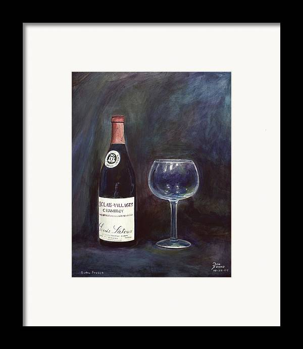 Lime Painting Framed Print featuring the painting Latour Wine Buon Fresco 3 Primary Pigments by Don Jusko