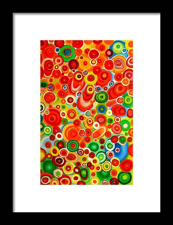 Abstract Framed Print featuring the painting Laughing At The Top Of My Lungs by Frank B Shaner