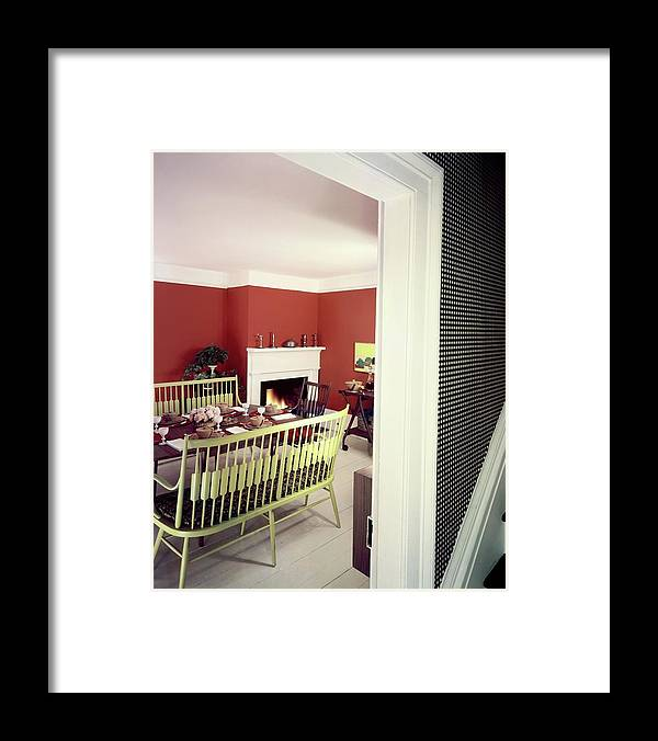 Furniture Framed Print featuring the photograph Laurens W. Macfarland's Dining Room by Tom Leonard