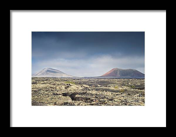 Montana Colorada Framed Print featuring the photograph Lava Flows Lanzarote by Michael David Murphy