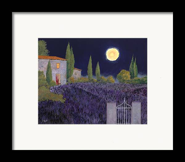 Tuscany Framed Print featuring the painting Lavanda Di Notte by Guido Borelli
