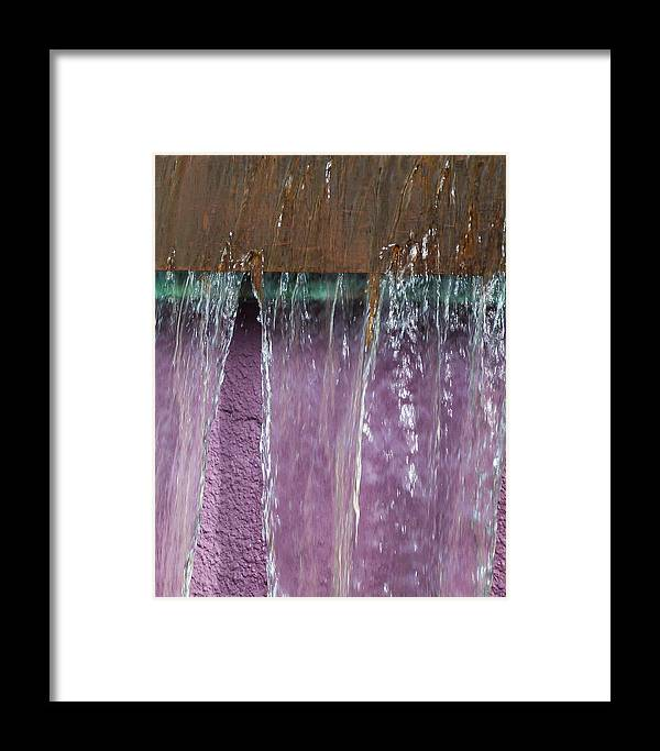 Jwygantpurplewaterfountain Framed Print featuring the photograph Lavendar Falls by Jeanette Wygant