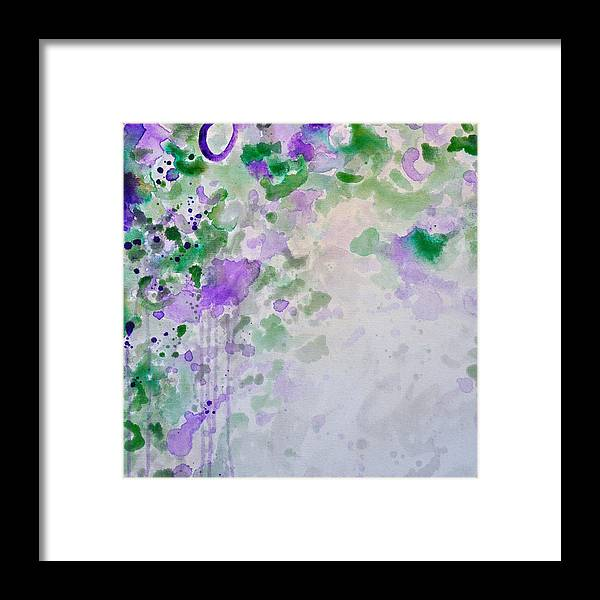 Acrylic Framed Print featuring the painting Lavender Dreams 1 by Charlen Williamson