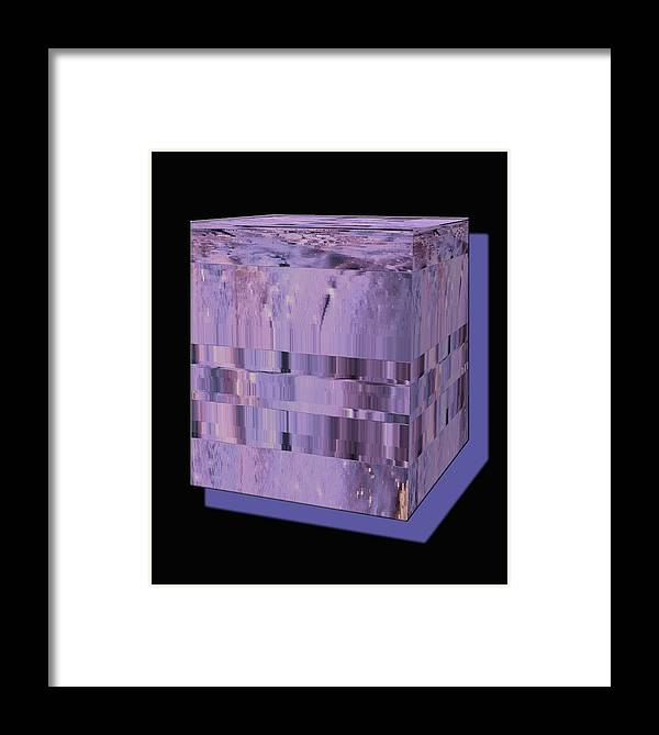 Digital Framed Print featuring the digital art Lavender Light Box by Colleen Cannon