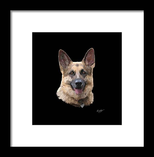 Layla Framed Print featuring the painting Layla by Chris Bradley