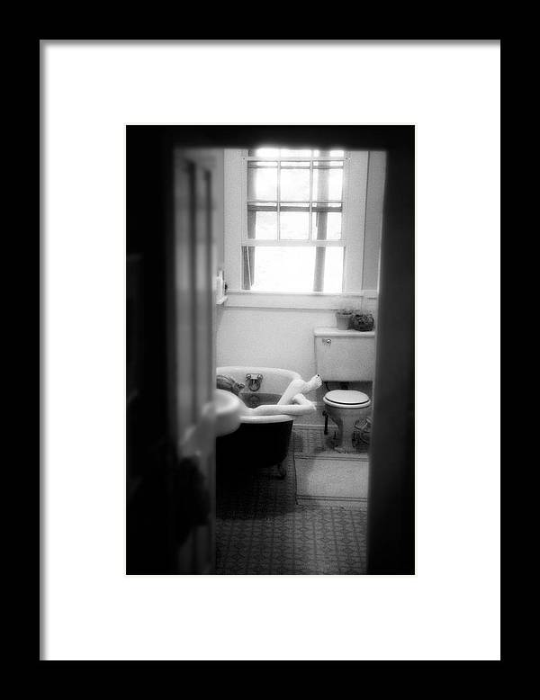 Nude Framed Print featuring the photograph Lazy Afternoon by Lindsay Garrett