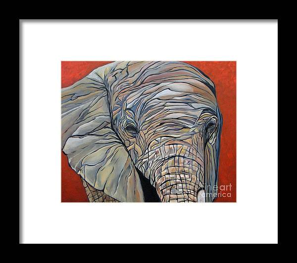 Elephant Framed Print featuring the painting Lazy Boy by Aimee Vance