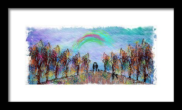 Rain Framed Print featuring the painting Lazy Hazy Rainy Day by Ericamaxine Price