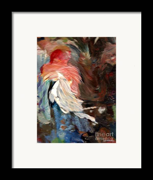 French Framed Print featuring the painting French Cancan Atmosphere by Christian Simonian