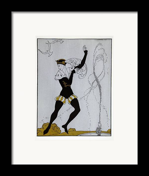 Ballet Framed Print featuring the painting Le Pavillion D'armider by Georges Barbier