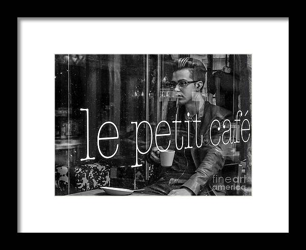 Montreal Framed Print featuring the photograph le petit cafe' Montreal by Amy Fearn