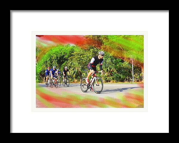 Active Framed Print featuring the mixed media Leader Of The Pack by Doug Walker
